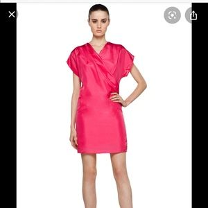 Girl band of outsiders boxy silk dress pink 3 L